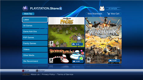 ps3 online store